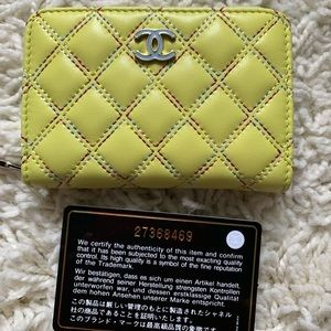 Chanel Lambskin wallet with Rainbow Stitching